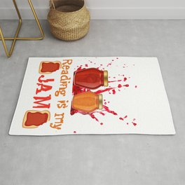 Reading is My Jam I Love to Read Gift product Rug