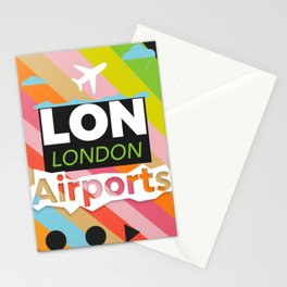 LON airports modern Stationery Cards