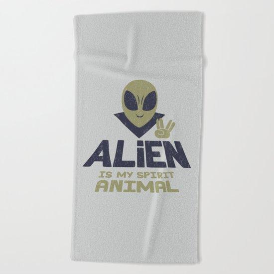 Alien Is My Animal Spirit Beach Towel