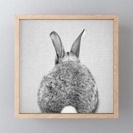 Rabbit Tail - Black & White Framed Mini Art Print