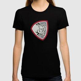 Rhinoceros Head Side Shield T-shirt