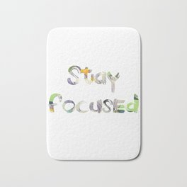 Stay Focused Bath Mat