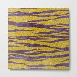 Mardi Gras Bayou Cajun Tiger Skin Metal Print