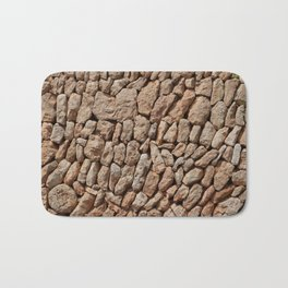 Stone wall background Bath Mat