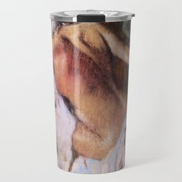 After The Bath Woman Drying Herself 1892 By Edgar Degas   Reproduction   Famous French Painter Travel Mug