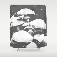 mushroom Shower Curtains featuring Mushroom by Nick Strother