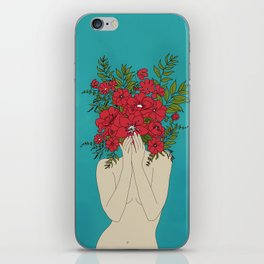 Blooming Red iPhone Skin
