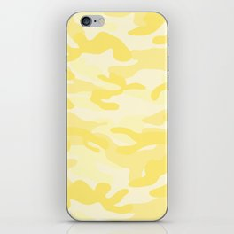 light Yellow Military Camouflage Pattern iPhone Skin