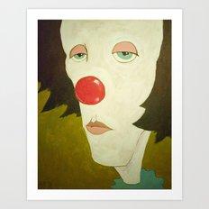 Johnny The Clown Art Print