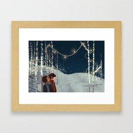 Elf Lights Framed Art Print