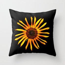 Think Flowers - Spikey Sunflower Throw Pillow