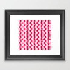Zoutman Neon Pink Pattern Framed Art Print