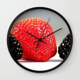 Strawberry Blackberry Wall Clock