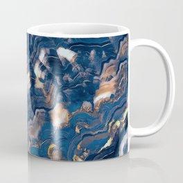 Blue marble with Golden streaks Coffee Mug
