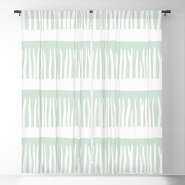 Abstract Blades of Grass in Mint Blackout Curtain