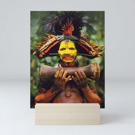 Papua New Guinea Chief Mini Art Print