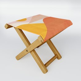 Abstraction_Mountains Folding Stool