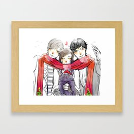 Jem, Tessa and Will Framed Art Print