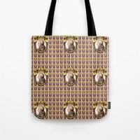 mozart Tote Bags featuring Mozart Wallpaper by Glenn Designs
