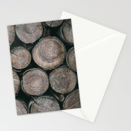 Log Ends Stationery Cards