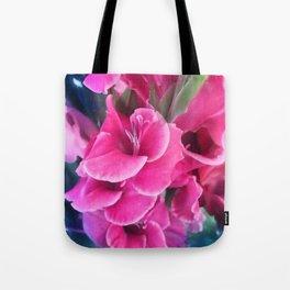 Dark Pink Gladiolas Tote Bag