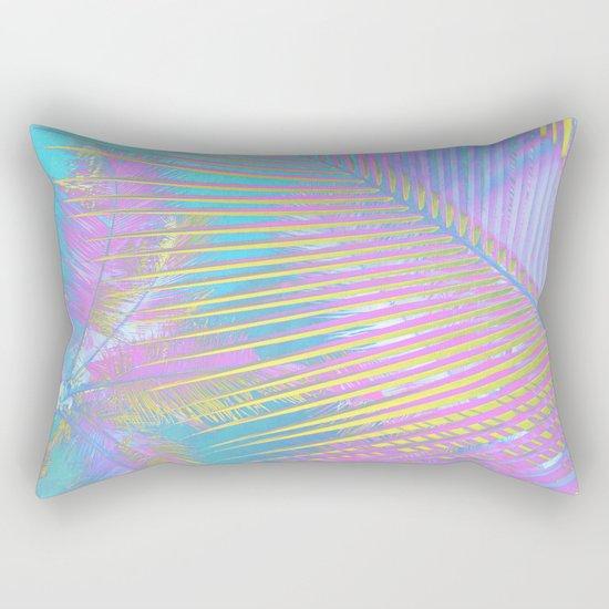 Pastel Palm tree leaves Rectangular Pillow
