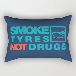 SMOKE TYRES NOT DRUGS v2 HQvector Rectangular Pillow
