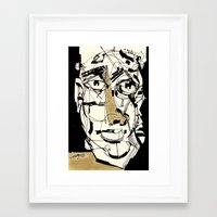 golden Framed Art Prints featuring Golden by 5wingerone