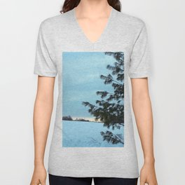 Between Field and Forest Unisex V-Neck