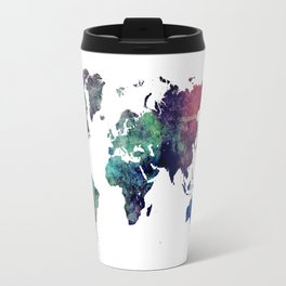 Map of the World After Ice Age Travel Mug