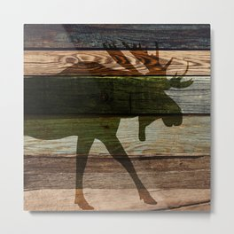 The Moose Shadow Metal Print