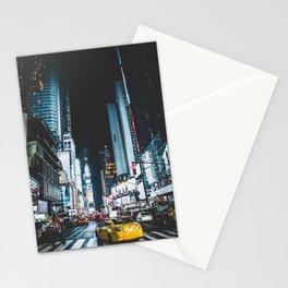 New York city night Stationery Cards