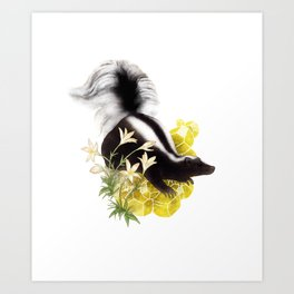 Skunk and Sulfur Crystals Art Print