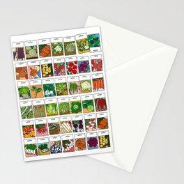 Veggie Seeds Pattern Stationery Cards