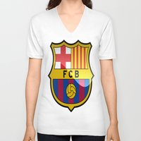 barcelona V-neck T-shirts featuring BARCELONA by Acus