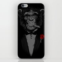 monkey iPhone & iPod Skins featuring Monkey Business by Alex Solis