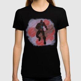 Cyborg Splatter Background T-shirt