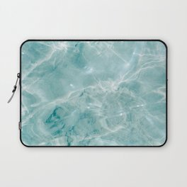 Clear blue water | Colorful ocean photography print | Turquoise sea Laptop Sleeve