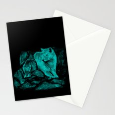 Wolf and Raven in the Night Stationery Cards