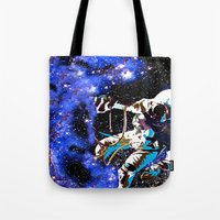 astronaut Tote Bags featuring Astronaut  by Saundra Myles