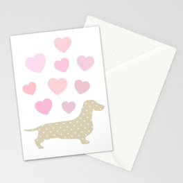 Sausage dog love Stationery Cards