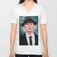 fringe V-neck T-shirts featuring The observer (Fringe) by San Fernandez