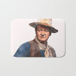 John Wayne - The Duke - Watercolor Bath Mat