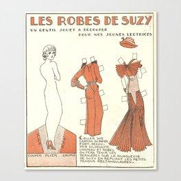 vintage/Les Robes De Suzy Canvas Print