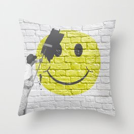 No Happiness Allowed! Throw Pillow