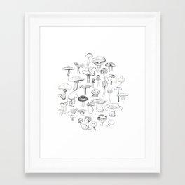 The mushroom gang Framed Art Print