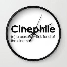 cinephile Wall Clock