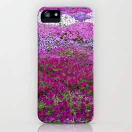 Waves of color on a sea of Petunias iPhone Case