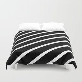 TEAM COLORS 1......Black and white Duvet Cover