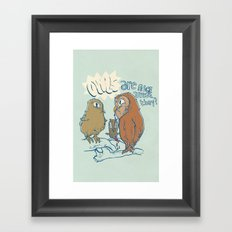 owls are nice Framed Art Print
